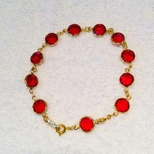 Swarovski Red-Crystals Bracelet